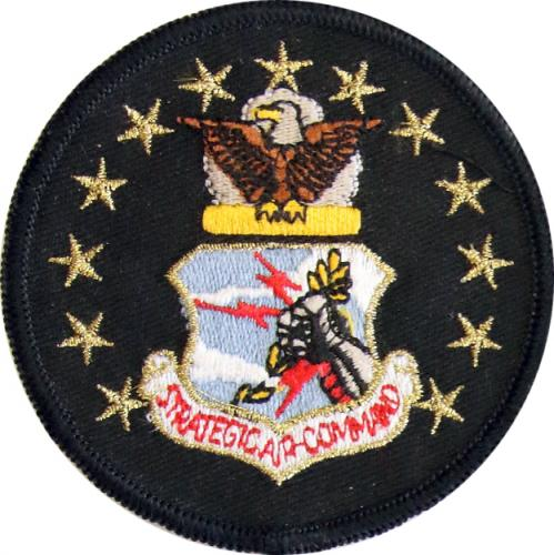 Strategic Air Command -  SAC Crest with Eagle   Stars  (Style A)