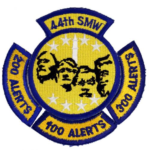 44th Strategic Missile Wing, with 100-200-300 Alerts rockers