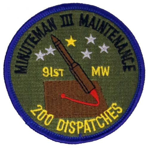 91st Missile Wing MM III Maintenance - 200 Dispatches