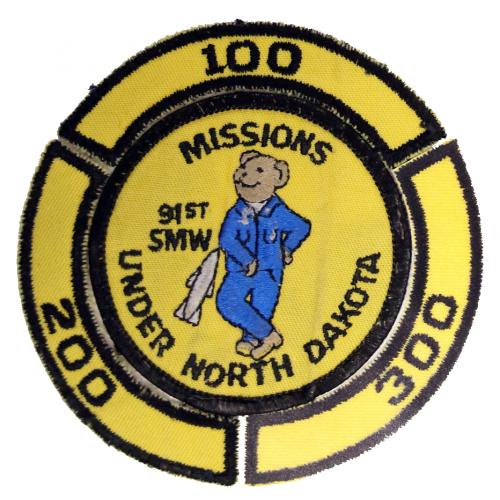 91st Strategic Missile Wing - 100 Missions (Style B), with 200 and 300 rockers