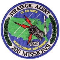 U.S. Air Force Missile Combat Crew Member - 200 Missions