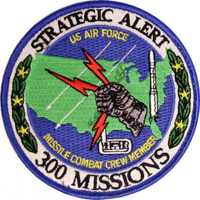 U.S. Air Force Missile Combat Crew Member - 300 Missions