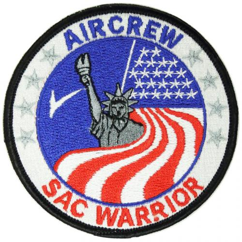 Strategic Air Command Warrior - Aircrew (MCCM-A) with embroidered longevity stars