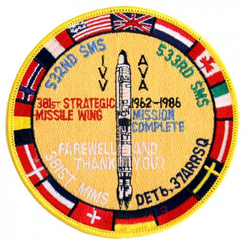 1986 - 381st Strategic Missile Wing, 1962-1986, Mission Complete (8 August)