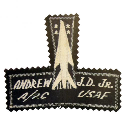 Missile Badge on embroidered name tag (late 1950s-very early 1960s)