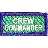 CREW COMMANDER (white on green)