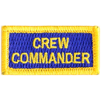 CREW COMMANDER (yellow on blue)